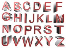 3d alphabet letters. Coloured 3d alphabet letters typography Stock Photos