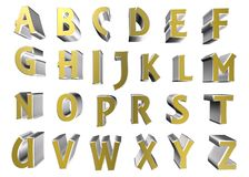 3d alphabet letters. Coloured 3d alphabet letters typography Stock Photography