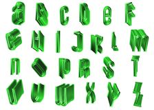 3d alphabet letters. Coloured 3d alphabet letters typography Stock Photo