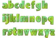 3d alphabet letters. Coloured 3d alphabet letters typography Royalty Free Stock Image