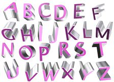 3d alphabet letters. Coloured 3d alphabet letters typography Royalty Free Stock Images