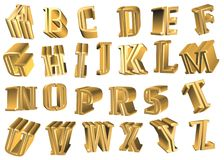 3d alphabet letters. Coloured 3d alphabet letters typography Royalty Free Stock Photo