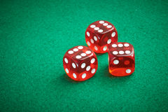 Coloured Dice Stock Photography