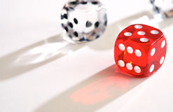 Coloured Dice Stock Image