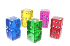 Coloured Dice Stock Images