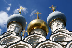 Coloured dome. A coloured church dome in Moscow, Russia royalty free stock photo