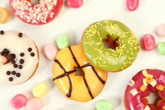 Coloured donuts Stock Photo