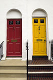Coloured doors in Brighton. A beach destination in the south of England Stock Images