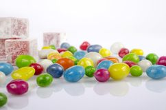 Coloured dragee close up Royalty Free Stock Image