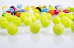 Coloured dragee close up Royalty Free Stock Photo