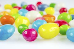 Coloured dragee close-up Royalty Free Stock Photos