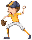 A coloured drawing of a baseball player Stock Photo