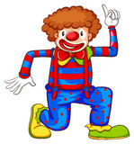 A coloured drawing of a clown Stock Photography
