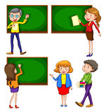 A coloured drawing of teachers Stock Photos