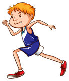 A coloured drawing of a young runner Stock Photography