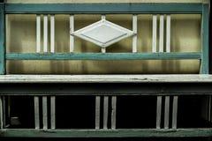 Coloured drewniana ławka Obraz Royalty Free