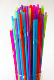 Coloured drinking straw background Stock Images