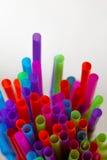 Coloured drinking straw background Stock Image