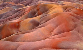 Coloured earth. That photo has been taken on Mauritius island, Indian ocean. The earth of extinct volcano royalty free stock image