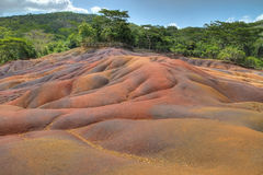 Coloured earth, Chamarel, Mauritius Stock Photos