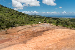 23 Coloured Earth in Vallee des Couleurs in Mauritius. National Park Royalty Free Stock Photo