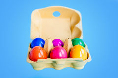 Coloured easter eggs Stock Images