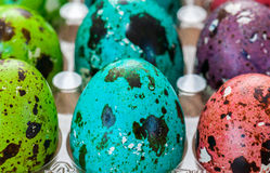 Coloured Easter eggs. Close up of Coloured Easter eggs Stock Photography