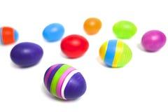 Coloured easter eggs Stock Photos