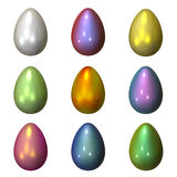 Coloured eggs. On the white background Stock Photography