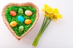 Coloured eggs Stock Photos