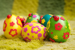 Coloured eggs for easter Royalty Free Stock Photos