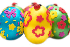 Coloured eggs for easter Royalty Free Stock Photography