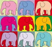 Coloured elephants Royalty Free Stock Image