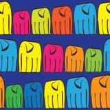 Coloured elephants of seamless pattern Stock Image