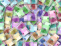 Coloured Euro background Stock Photography