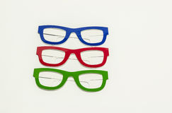 Coloured eyeglasses Royalty Free Stock Images
