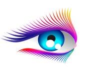 Coloured eyelashes Royalty Free Stock Photography