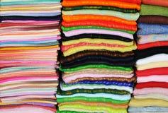 Coloured fabrics Royalty Free Stock Photography
