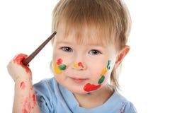 Coloured face Royalty Free Stock Photos
