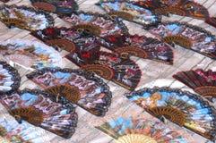 Coloured fans stock photos