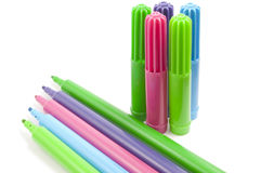 Coloured Felt-Tip Stock Photography