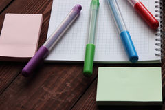 Coloured felt-tip pens Stock Photography