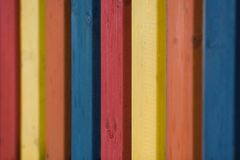 Coloured fence royalty free stock image