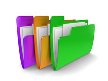 Coloured files Stock Photo