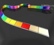 Coloured Film Stock Photo