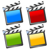 Coloured film slates vector Stock Images