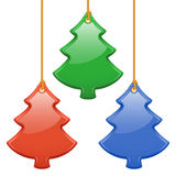 Coloured fir toys. Set of glossy coloured fir toys (Vector Royalty Free Stock Photography