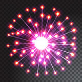 Coloured firework isolated on transparent background. Vector illustration Royalty Free Stock Images