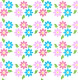 Coloured flowers pattern Royalty Free Stock Images