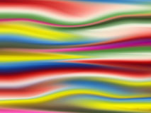 Coloured Fluctuation. Various color stripe wave background Stock Photo